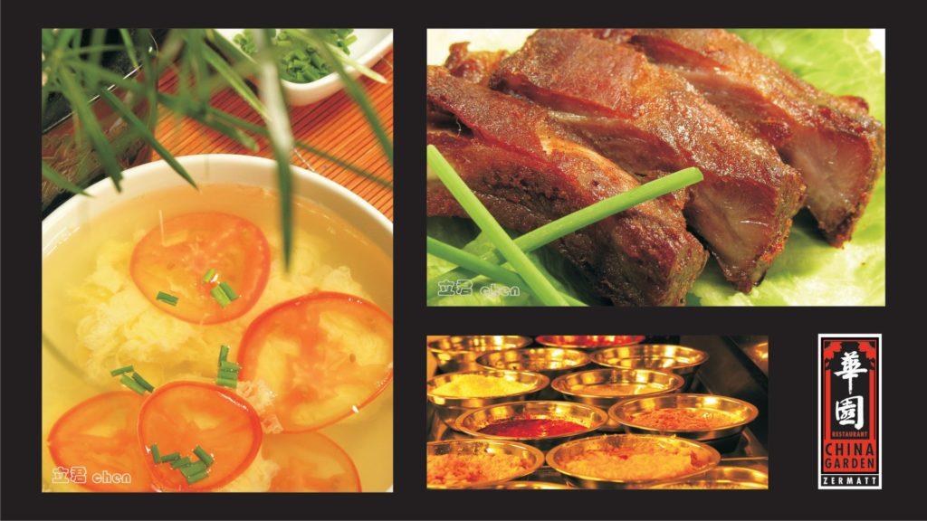 spare ribs, suppe und gewürze