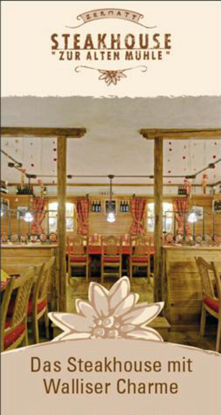 steakhouse visitenkarte
